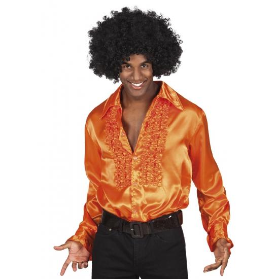 Verkleedkleding oranje rouche overhemd