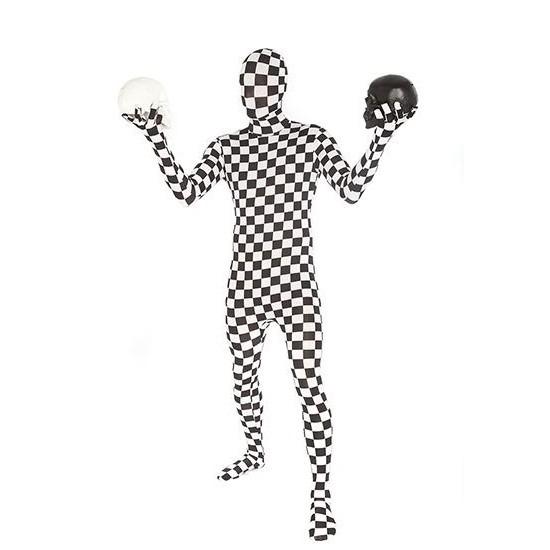 Verkleedkleding Originele morphsuit geblokt