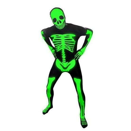 Verkleedkleding Originele morphsuit skelet print