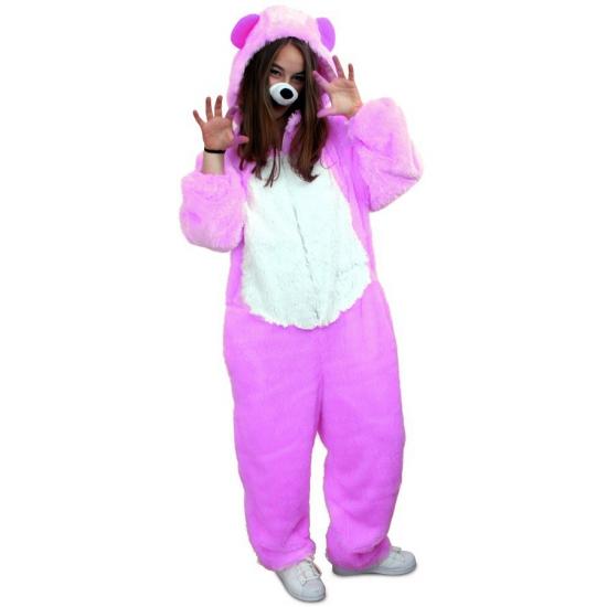 Verkleedkleding paarse beer