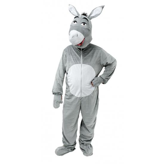 Verkleedkleding Pluche ezel kostuum grijs