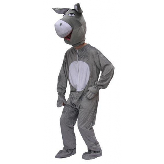 Verkleedkleding Pluche ezel kostuum volwassenen