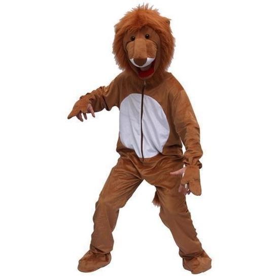 Verkleedkleding Pluche leeuw kostuum bruin