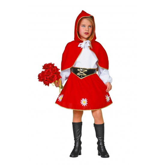 Verkleedkleding Roodkapje kostuum voor meisjes