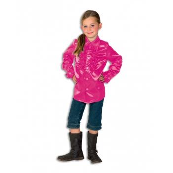 Verkleedkleding Rouches blouse roze voor kids