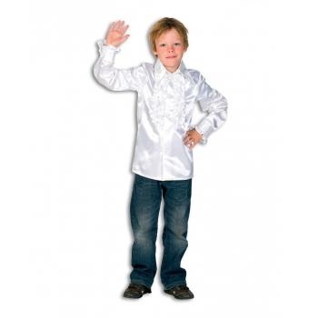 Verkleedkleding Rouches blouse wit voor kids