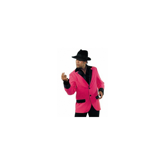 Verkleedkleding Roze colbert heren