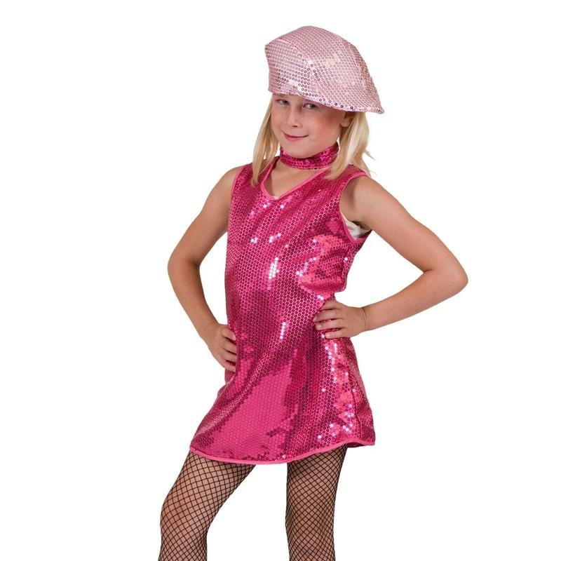Verkleedkleding Roze jurkje met pailletten kinderen