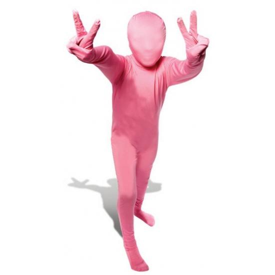 Verkleedkleding Roze morphsuit voor kinderen