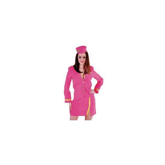 Verkleedkleding Roze stewardessen uniform