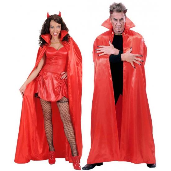 Verkleedkleding Satijnen cape rood