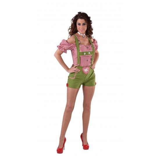 Verkleedkleding sexy lederhose groen