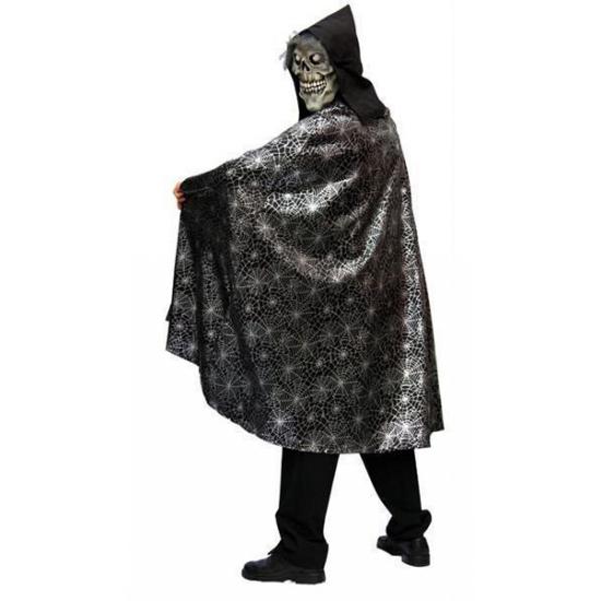 Verkleedkleding spinnenweb cape voor volwassenen