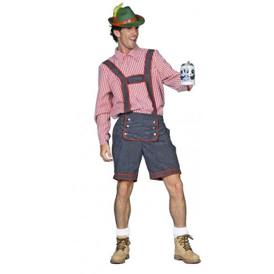 Verkleedkleding Tiroler lederhose voor heren
