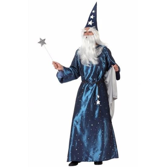 Verkleedkleding Tovenaars kostuum blauw