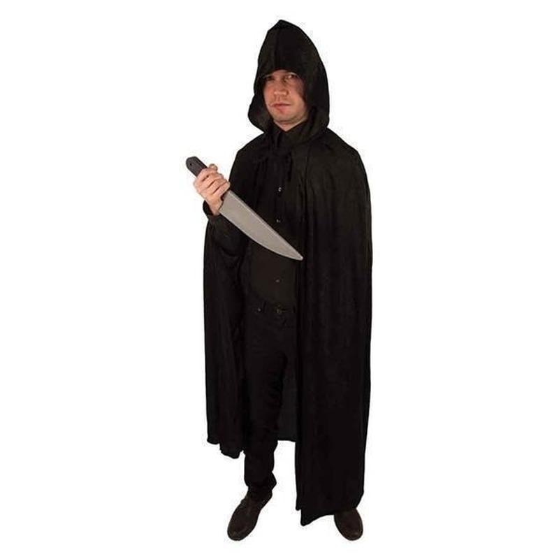 Verkleedkleding Venetiaanse cape zwart volwassenen