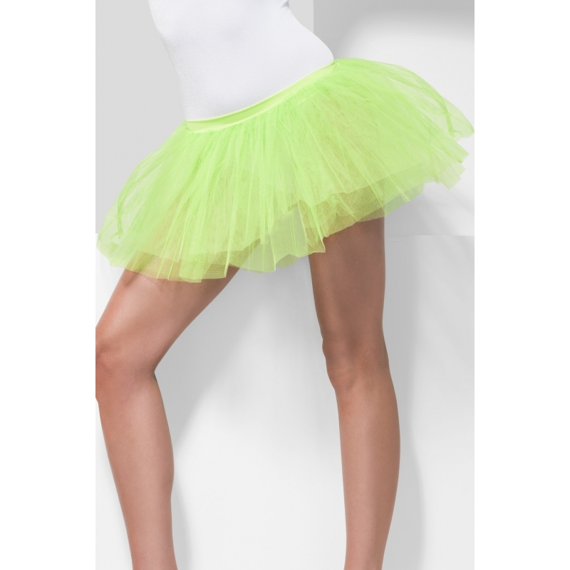 Verkleedkleding Voordelige neon groene petticoat