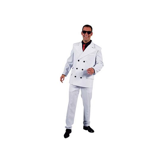 Verkleedkleding Wit heren gangster kostuum