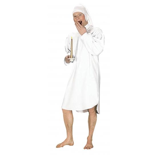 Verkleedkleding Wit ouderwets nachtshemd voor heren