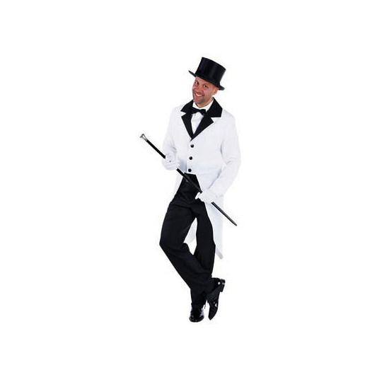 Verkleedkleding Witte slipjas voor heren