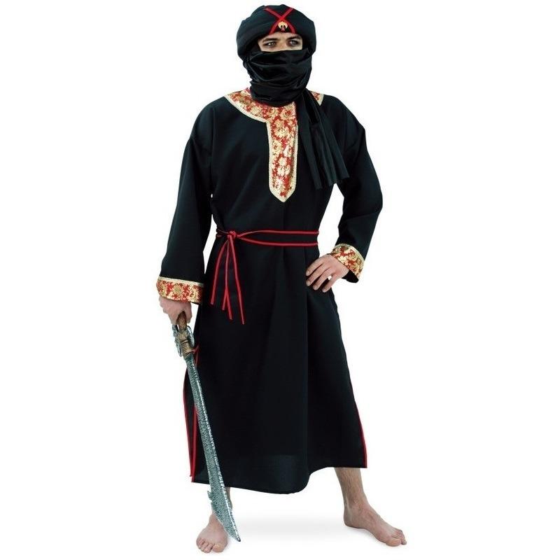 Verkleedkleding Woestijn strijder kostuum