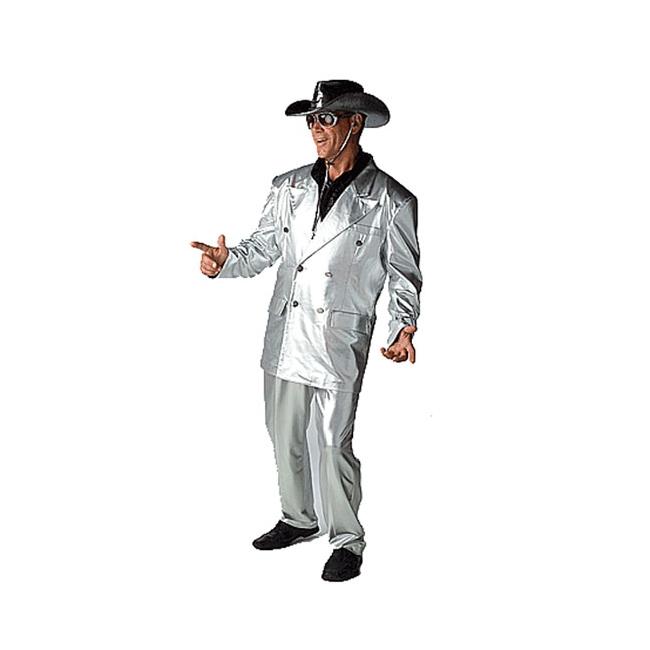 Verkleedkleding Zilver kostuum bling bling
