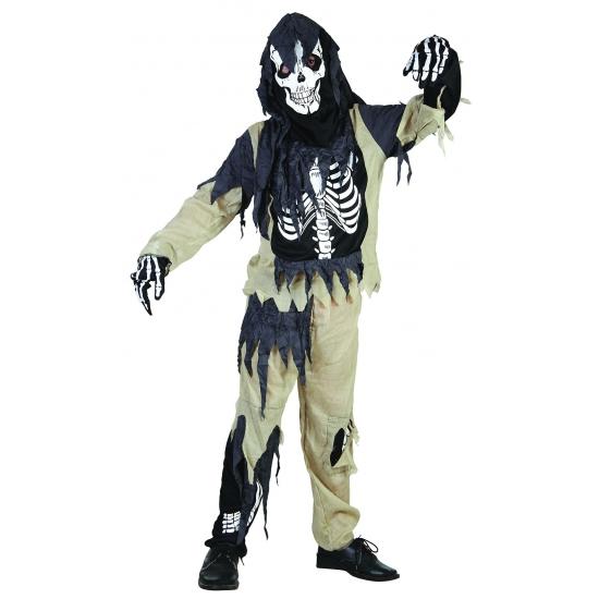 Verkleedkleding Zombie skelet pak voor kinderen