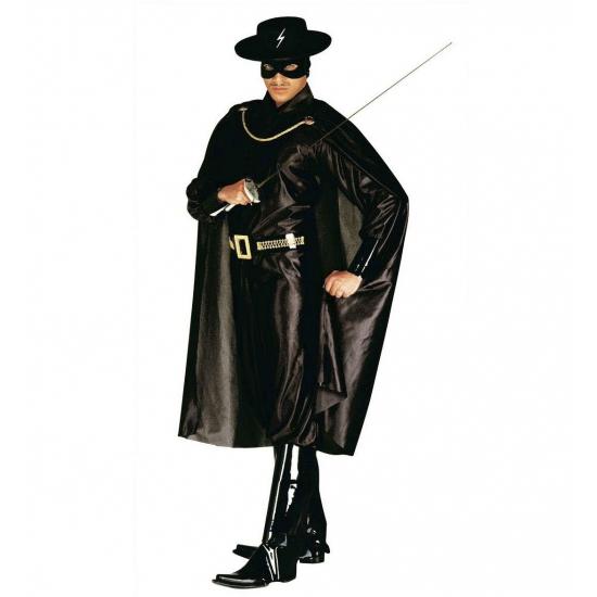 Verkleedkleding Zorro kostuum voor volwassenen