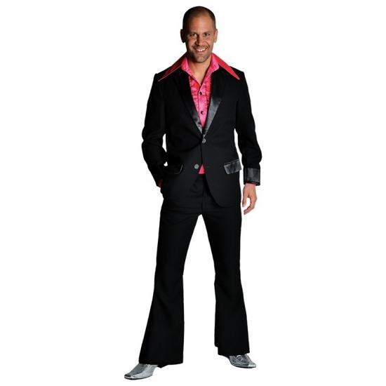 Verkleedkleding Zwart jaren 70 kostuum voor heren