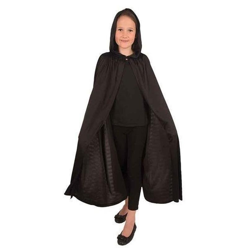 Verkleedkleding zwarte cape voor kinderen