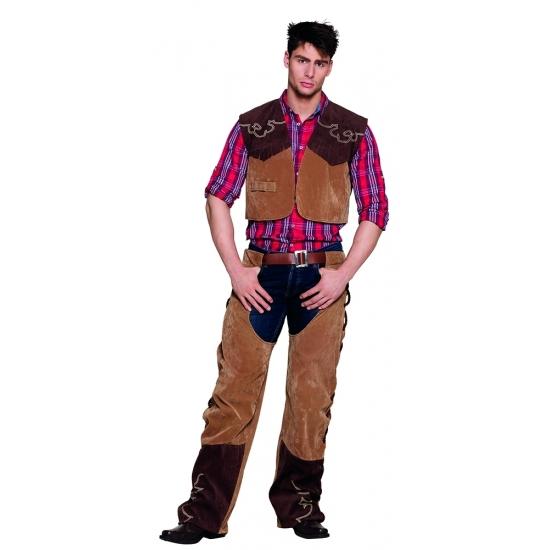 Verkleedset cowboy chaps en vest