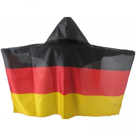 Vlag poncho zwart/rood/geel
