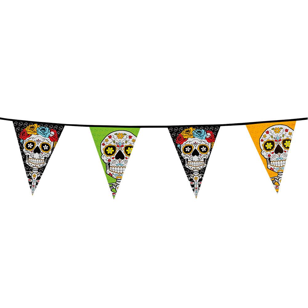Vlaggenlijnen Day of the dead 10 meter feestversiering