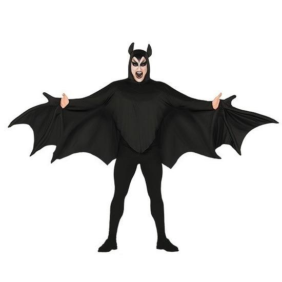 Vleermuis verkleed kostuum zwart voor heren