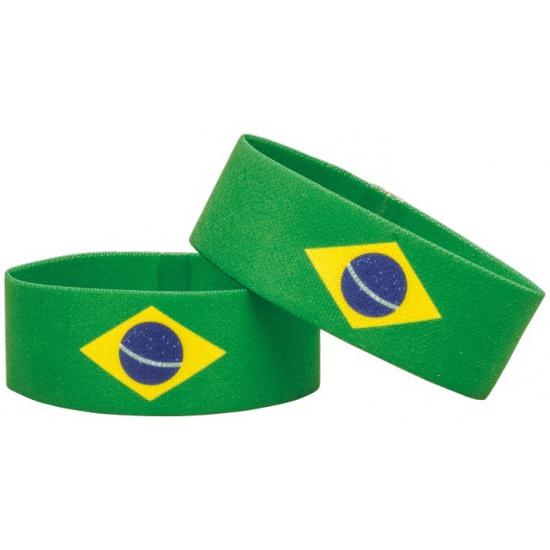 Voetbal armband geel groen