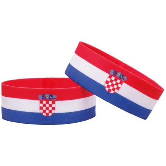Voetbal armband rood wit blauw