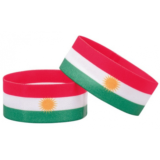 Voetbal armband wit groen rood