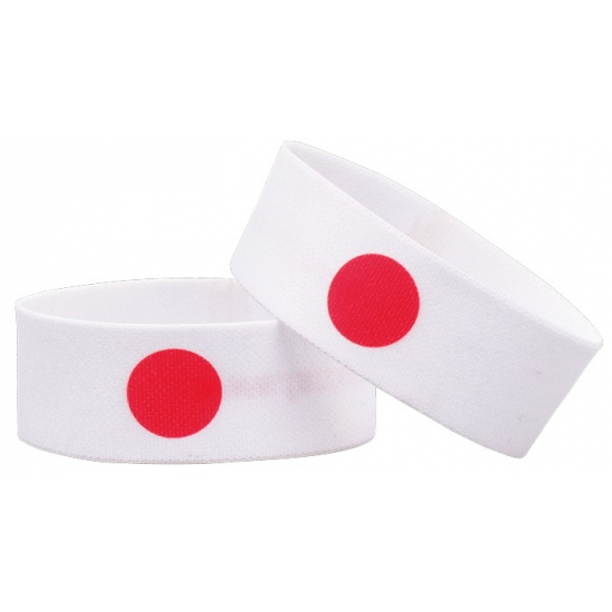 Voetbal armband wit rood