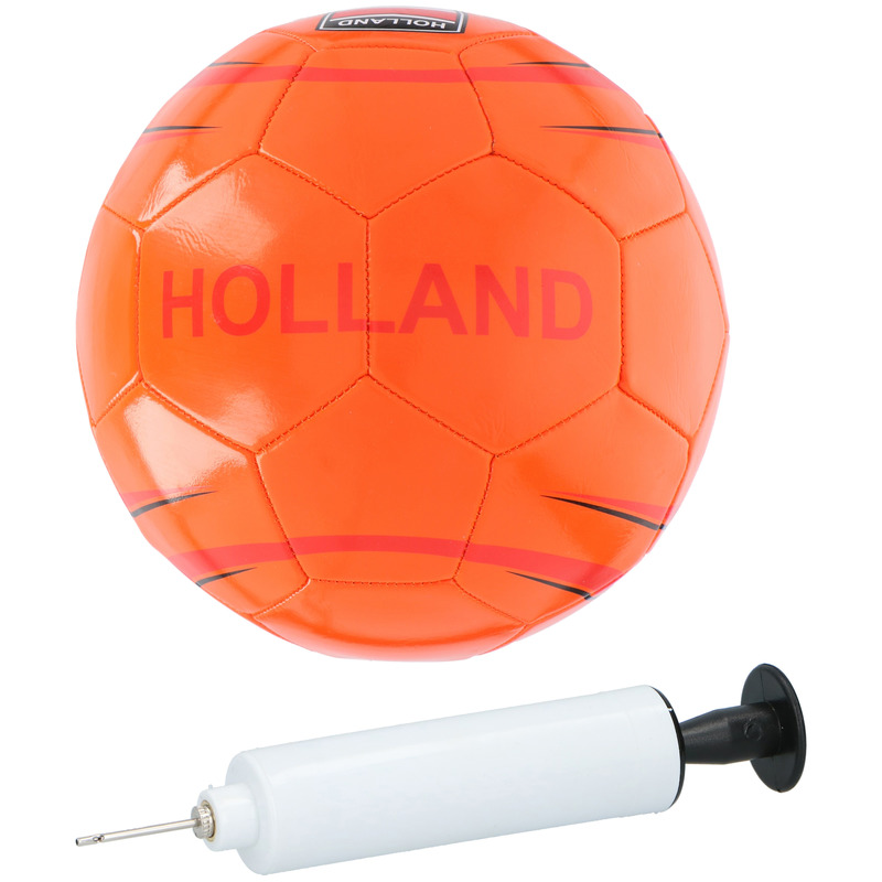 Voetbal Holland Oranje 21 cm inclusief pomp en net