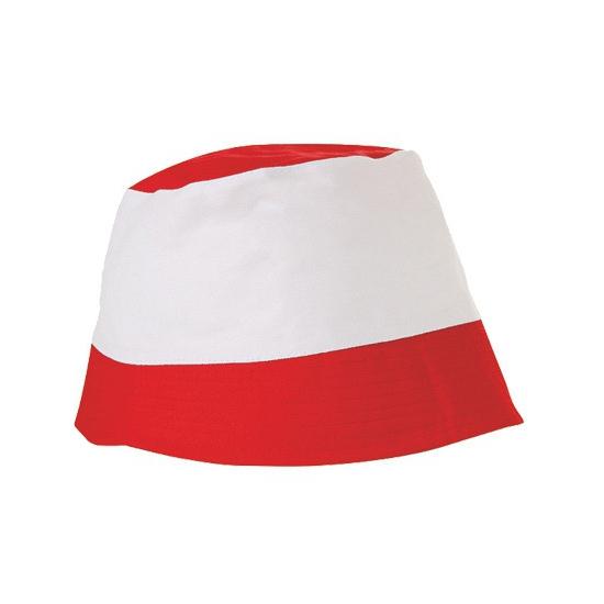 Voordelig hoedje rood met wit