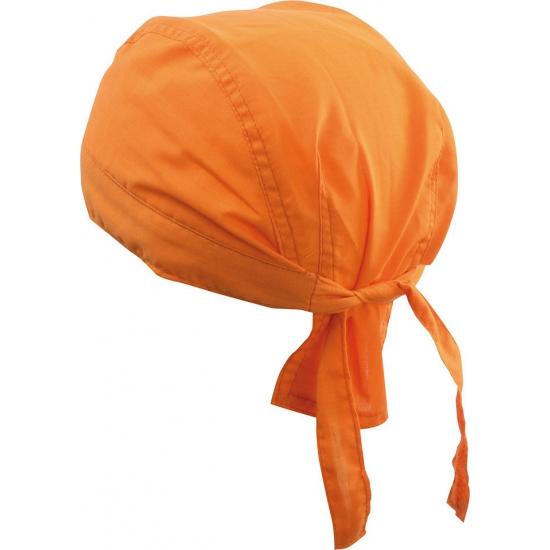 Voordelige oranje bandana uni 1