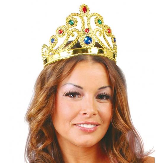Merkloos Voordelige prinsessen kroon met diverse edelstenen