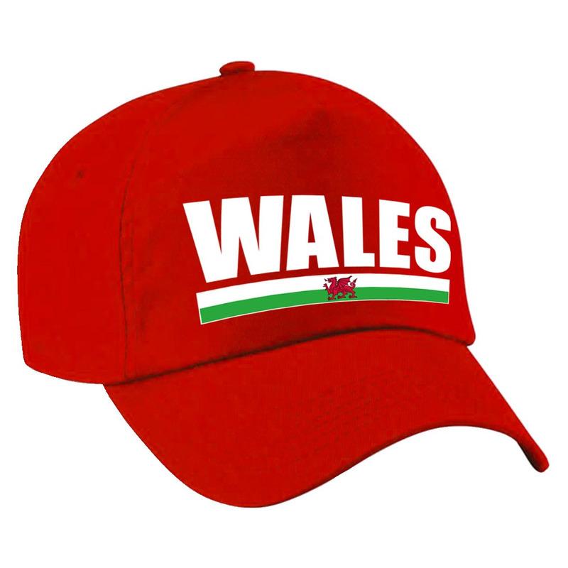 Wales supporter pet - cap Verenigd Koninkrijk rood kinderen
