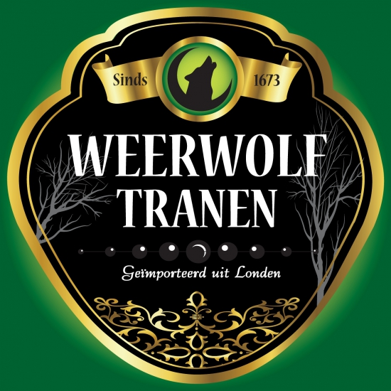 Weerwolf drank etiket