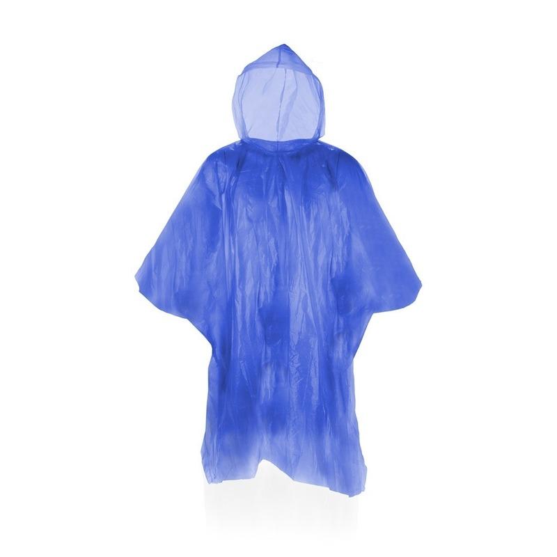 Wegwerp regenponcho blauw