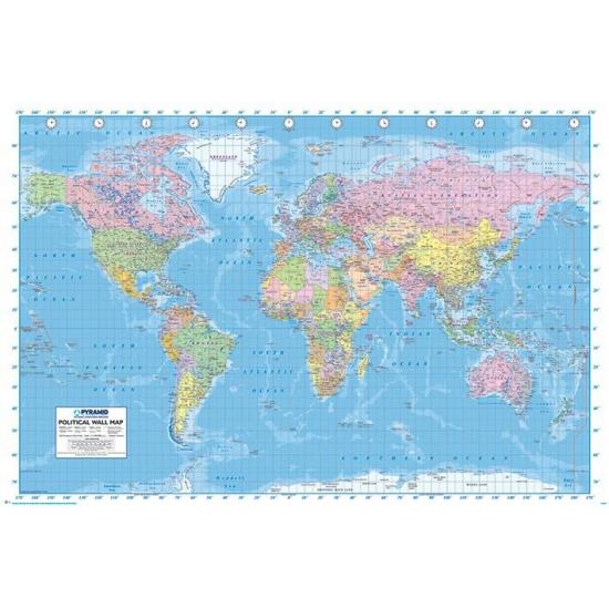 Wereld poster 61 x 91,5 cm