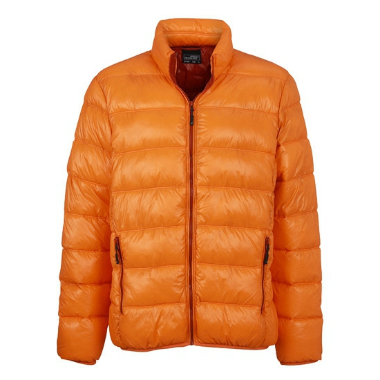 Winter donsjassen in oranje kleur