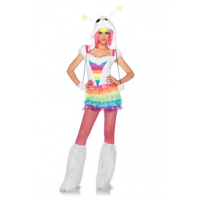 Winter regenboog verkleed kostuum