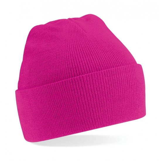 Wintersport kindermuts fuchsia roze