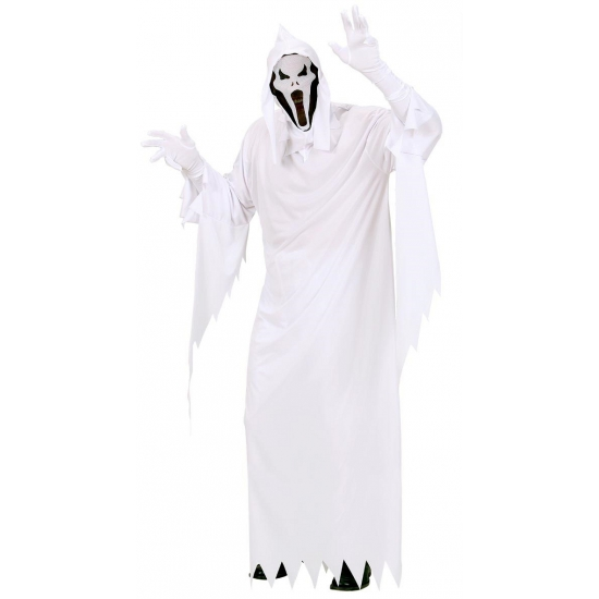 Merkloos Wit spook kostuum heren